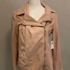 ❄️Old Navy Blush Moto Denim Jacket Size M